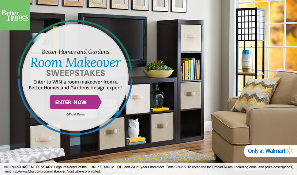 Better Homes And Gardens Win A Room Makeover Usa Contests