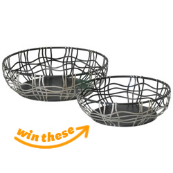 Silver and Bronze Iron Baskets