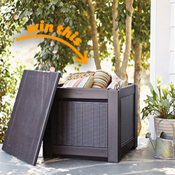 Rubbermaid® Patio Chic™ Storage Cube