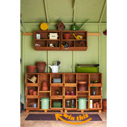 Wooden 3-Tier Storage Cubby