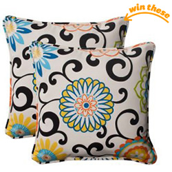 Outdoor Throw Pillows - Set of 2
