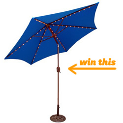 Round Crank Patio Umbrella