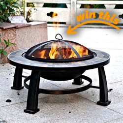 Slate Fire Pit Table