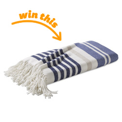 Cotton Woven Stripe Throw