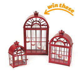 Melrose International Dome Lanterns - Set of 3