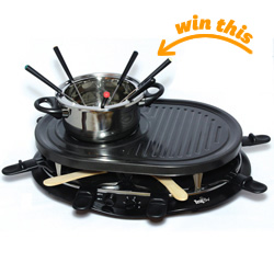 Total Chef Raclette Party Grill and Fondue Set