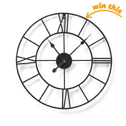Metal Round Wall Clock