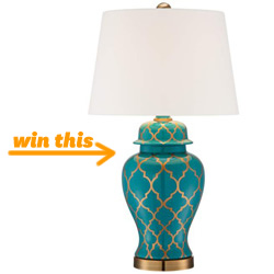 Moorish Pattern Table Lamp