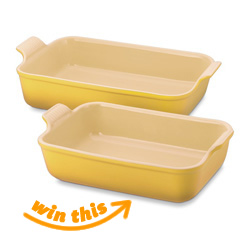Le Creuset Rectangular Bakers - Set of 2