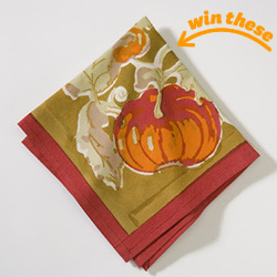 Pumpkin Napkins - Set of 6