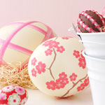 Pink and White Easter Eggs