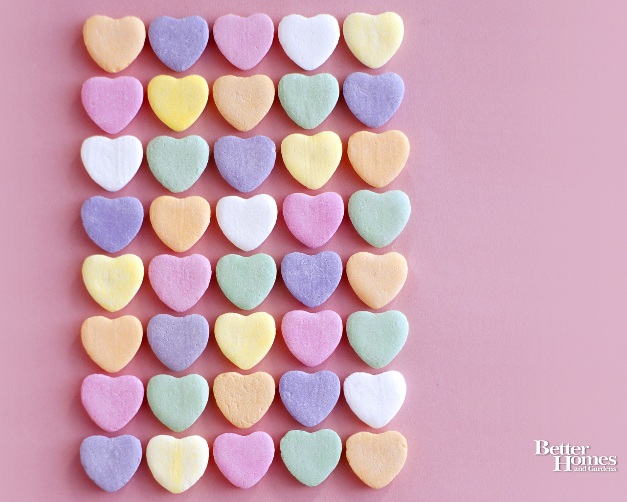 Candy Hearts For Your Background