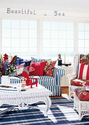 A Red, White, and Blue Porch