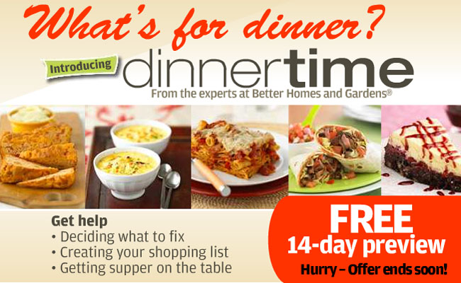 Free preview of dinner time