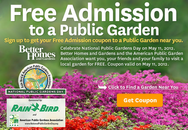 Saving 4 A Sunny Day Free Admission To A Public Garden On
