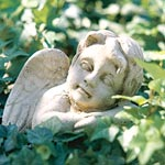 Resting Angel Garden Figure