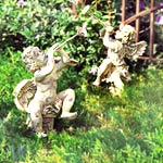 Trumpeting Angel Sculptures