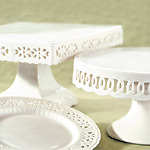 Lacy Cake Pedestals and Plates