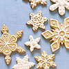 Dainty Snowflake Sugar Cookies
