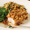 Hazelnut-crusted pork