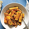 Rigatoni with creamy tomato sauce