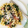 Cellentani with Ham & Greens