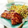 Asian BBQ Chicken Thighs & Broccoli Slaw