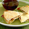 Apple-brie quesadillas
