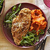 Oat-Crusted Chicken with Maple Sweet Potatoes