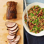 Smoky Pork with Quinoa Pilaf