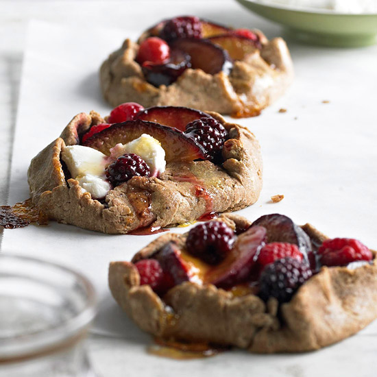 Plum-Berry Whole Wheat Tarts