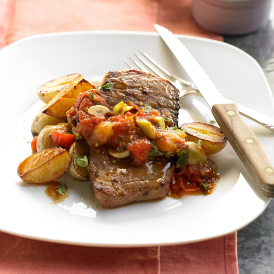 Beef & Baby Spuds with Tomato-Olive Ragout