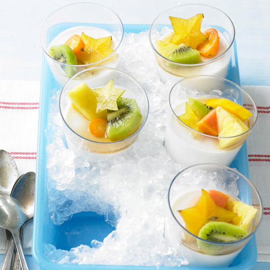 Coconut Panna Cotta with Tropical Fruit