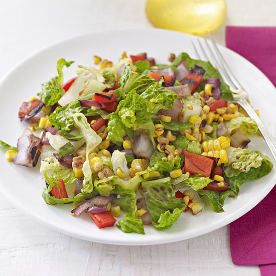 Chopped Salad with Roasted Corn Relish | Family Circle