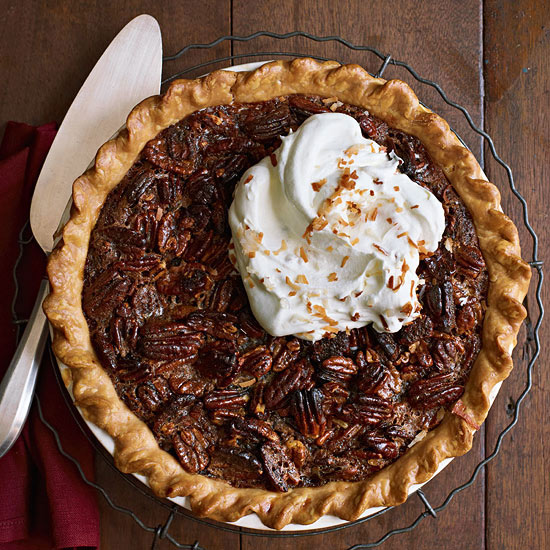 Coconut chocolate pecan pie family circle for Chocolate coconut pecan pie recipe