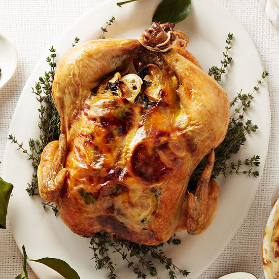 Roast Chicken With Thyme Scented Gravy Family Circle