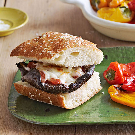 Portobello Pizza Cheeseburgers | Family Circle