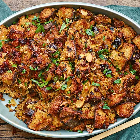 Spicy Italian Sausage and Multigrain Bread Stuffing | Family Circle