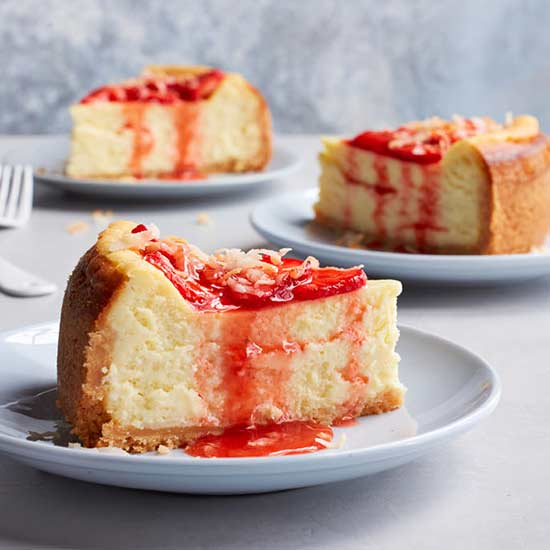Strawberry-Coconut Cheesecake | Family Circle