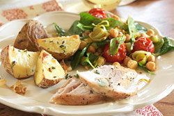 Roasted Potato and Turkey Salad