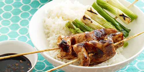Teriyaki Chicken And Scallion Kabobs