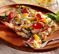 Potato Crust Vegetable Pizza