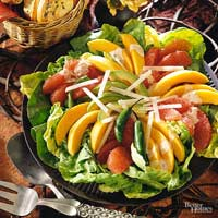 Avocado and Fruit Salad with Jalapeno Dressing