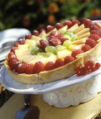 Mixed Fruit Tart with Amaretto Creme