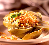 Image of Artichokes With Vegetable Stuffing, Better Homes and Garden