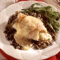 Image of Almond-stuffed Flounder With Creamy Tarragon Sauce, Better Homes and Garden