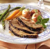 Mint-Rubbed Leg of Lamb