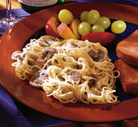 Image of Angel Hair Pasta With Creamy Mushroom Sauce, Better Homes and Garden