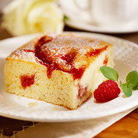 Cream Cheese and Raspberry Coffee Cake