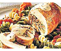 Chicken Rolls with Herbed Cream Sauce